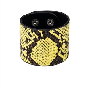 The Rest Is Hiss-story Yellow Bracelet